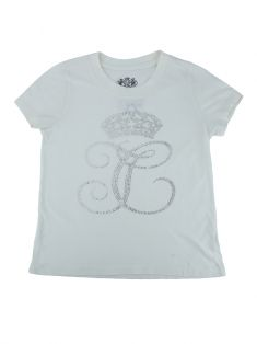 Camiseta Juicy Couture Off-White Strass Infantil
