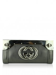 Clutch Gucci Britt Metalizada
