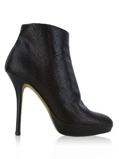 Ankle Boot Christian Dior Texturizada Marrom