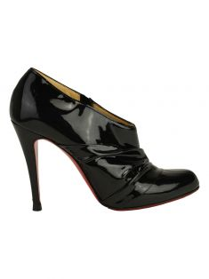 Ankle Boot Christian Louboutin Metallic Ruched