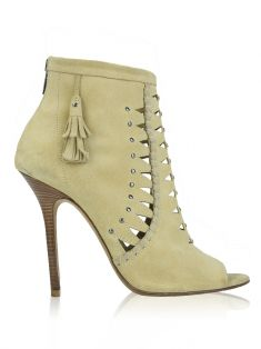Ankle Boot Jimmy Choo Camurça Bege