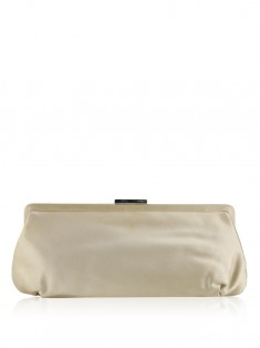 Clutch Tiffany & Co Morgan Cetim Bege