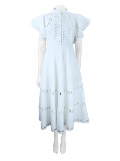 Vestido Skazi Renda Off White