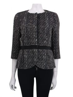 Blazer Giambattista Valli Tweed Preto