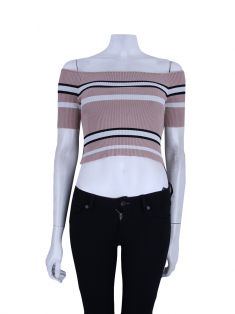 Blusa Animale Cropped Knit Listras