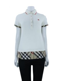 Blusa Burberry London Polo Off white