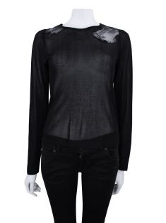 Blusa Candy by Candy Brown Ali Tricot Marinho