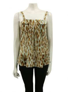 Blusa Christian Dior Seda Animal Print