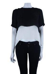 Blusa Elizabeth and James Seda Bicolor