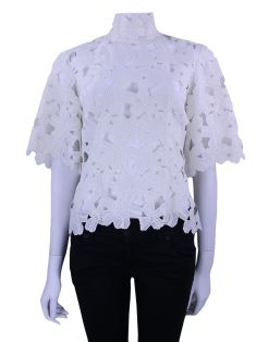 Blusa Martha Medeiros Renda Off White
