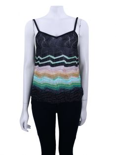 Blusa Missoni Tricô Lurex Colorida