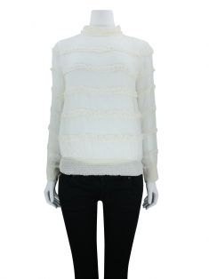 Blusa Mixed Babados Off White