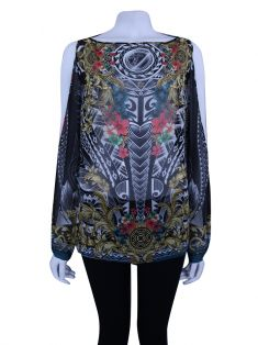 Blusa Versace Collection Tecido Estampado