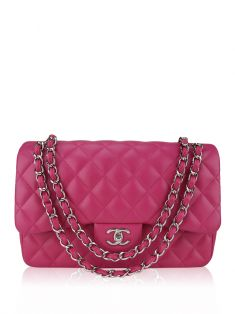 Bolsa Chanel Double Flap Jumbo Rosa