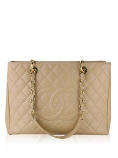 Bolsa Chanel Grand Shopper Nude