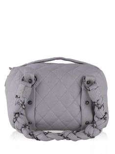 Bolsa Chanel Lady Braid Bowler Off-White