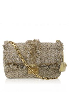 Bolsa Christian Dior Miss Dior Tweed Creme