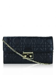 Bolsa Christian Dior Miss Dior Wallet On Chain Preta