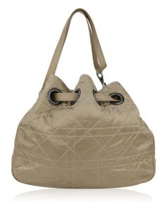 Bolsa Christian Dior Nylon Cannage Quilted Drawstring