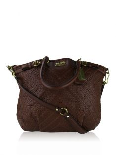 Bolsa Coach Madison Criss Cross Marrom