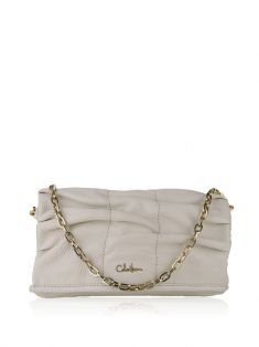 Bolsa Cole Haan Flap Chain Off-White