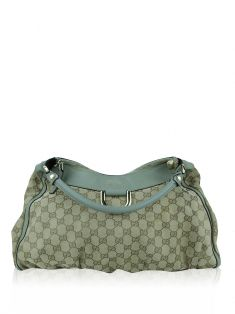 Bolsa Gucci D Ring GG Canvas Bege