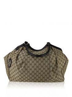 Bolsa Gucci Suckey GG Canvas Marrom