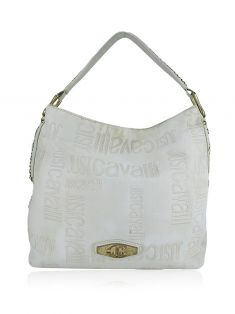 Bolsa Just Cavalli Tecido Off-White