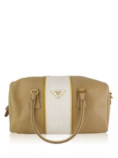 Bolsa Prada Bowling Perforated Bicolor