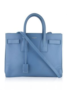 Bolsa Saint Laurent Paris Sac Du Jour Mini Azul