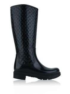 Bota Louis Vuitton Rubber Splash Preto