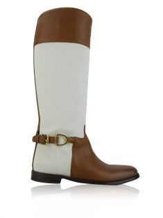Bota Ralph Lauren Collection Couro Caramelo