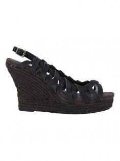 Plataforma Seven For All Mankind Wedges Marrom
