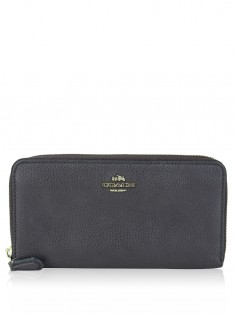Carteira Coach Accordion Zip Marrom