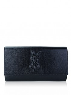 Clutch Yves Saint Laurent Belle de Jour Large Preto