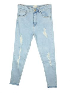 Calça Not Your Basic Denim Destroyed Clara
