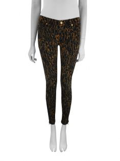 Calça Seven For All Mankind Aveludada Animal Print