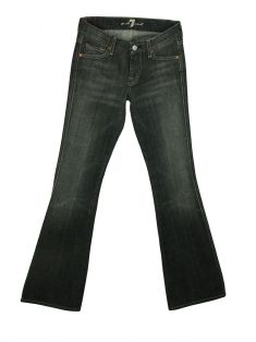 Calça Seven For All Mankind Cinza Mesclado Flare