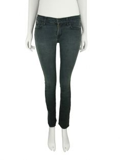 Calça Seven For All Mankind Roxanne Jeans Cinza