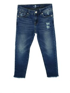 Calça Seven For All Mankind The Ankle Skinny Jeans Infantil