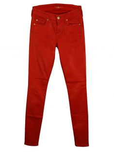 Calça Seven For All Mankind Gloss Skinny Tomate