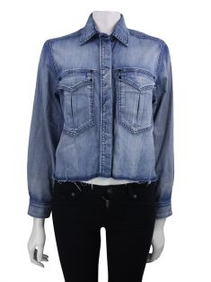 Camisa Animale Cropped Jeans