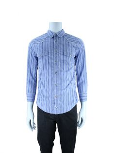 Camisa Boss Orange Xadrez Azul Masculino
