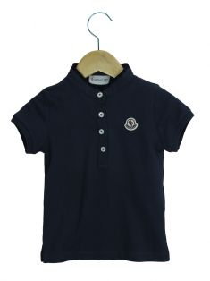 Camisa Polo Moncler Toddler Azul