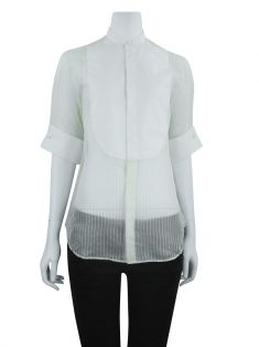 Camisa Ralph Lauren Black Label Seda Off White