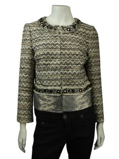 Casaco Tory Burch Tweed Estampado