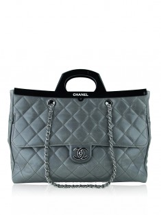 Bolsa Chanel Delivery Tote Glazed Cinza