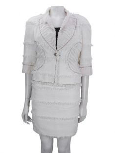 Conjunto Chanel Tweed Off White