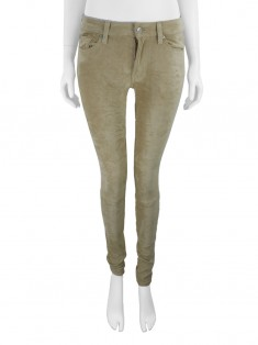Calça Seven For All Mankind The Sueded Skinny Areia