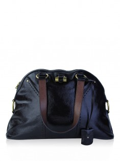 Bolsa Yves Saint Laurent Large Muse Veniz Marrom